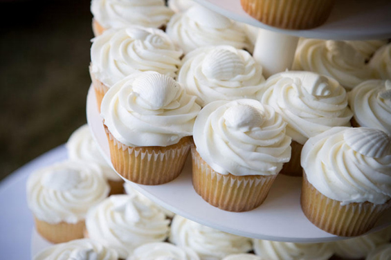 White Shell Cupcakes Wedding Cakes Gold Coast